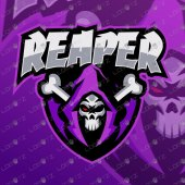 Grim Reaper Mascot Logo   Premade Reaper Mascot Logo For Sale