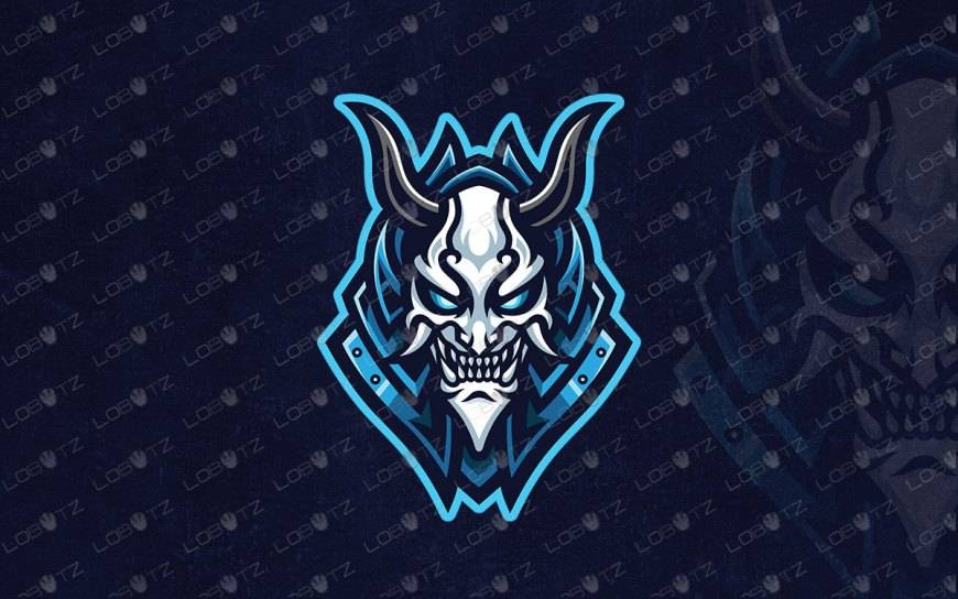 Oni Mask Mascot Logo For Sale Oni Mask eSports Logo