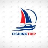 Fishing Logo For Sale   Boat Logo For Sale   Travel & Tourism Logo
