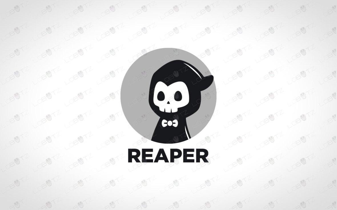 Cute Reaper Logo For Sale | Premade Modern Reaper Logo