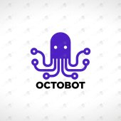 Octopus Logo | Modern & Unique Octopus Logo For Sale