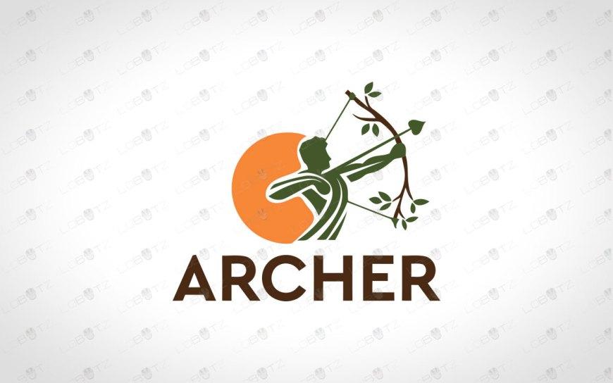 Premade Archer Logo | Garden Archer Logo Strong Bow Logo For Sale