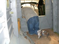 Lots of time was spent in this position to remove the plumbing
