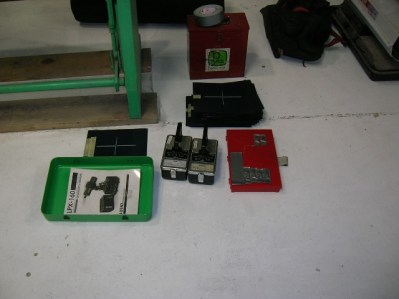 The sensor equipment and box of lead letters and numbers