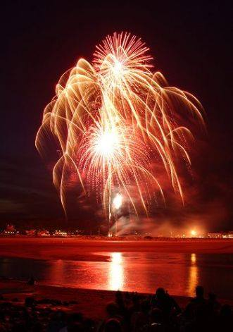 Fireworks over York Beach