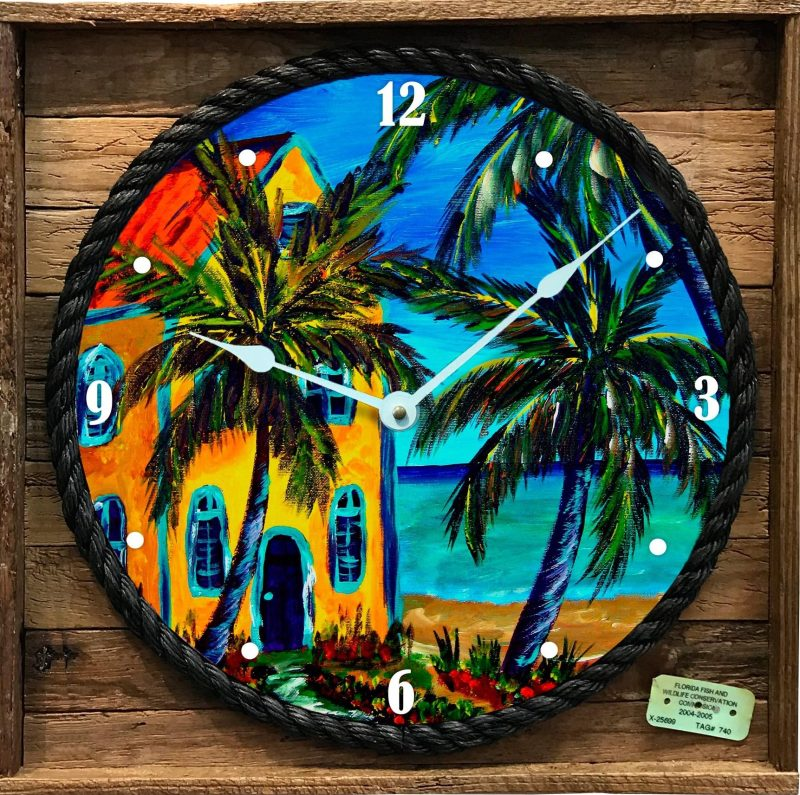 """LIVING IN PARADISE"" FRAMED CLOCK"