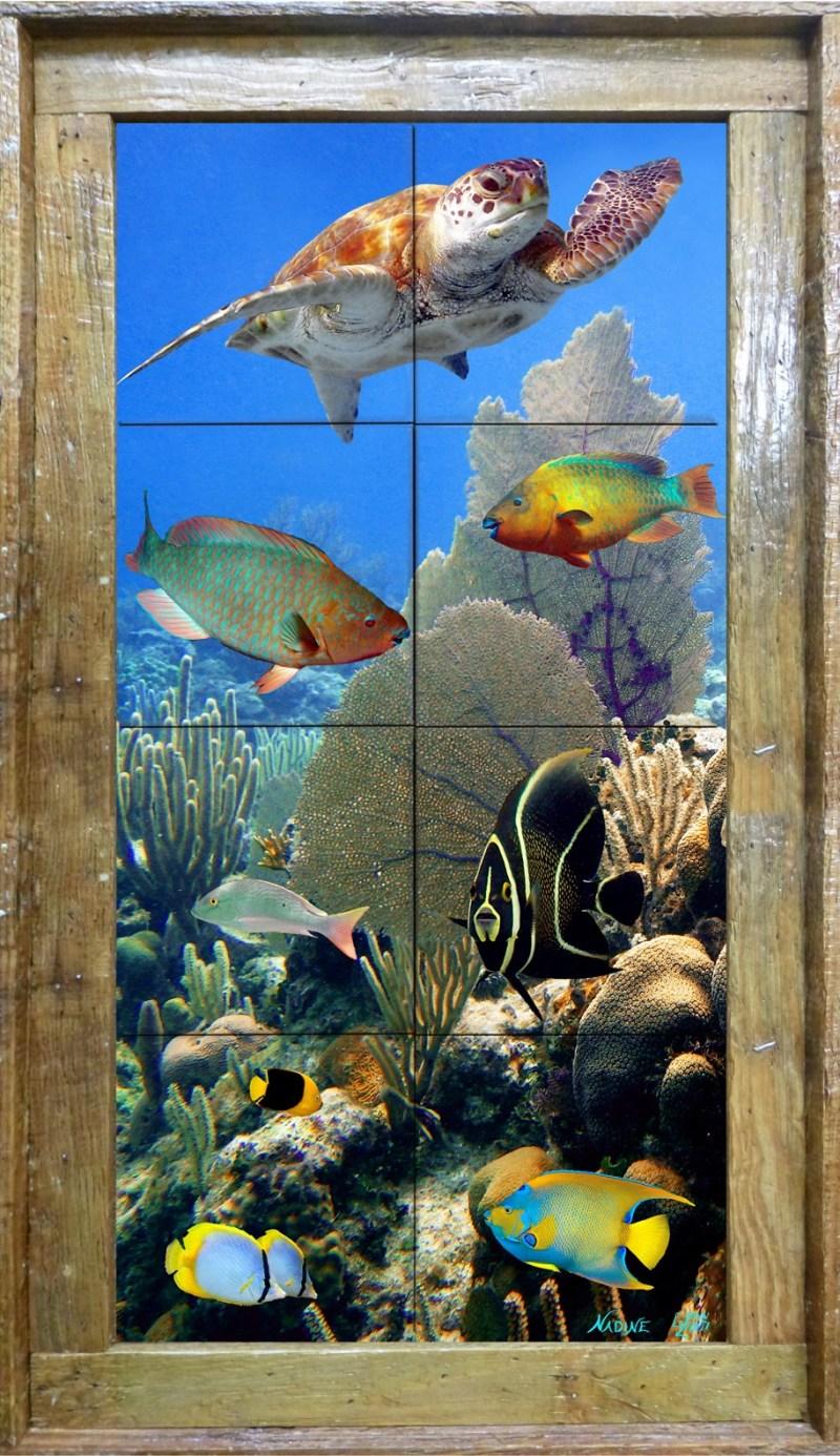 Roatan Reef Tile Mural