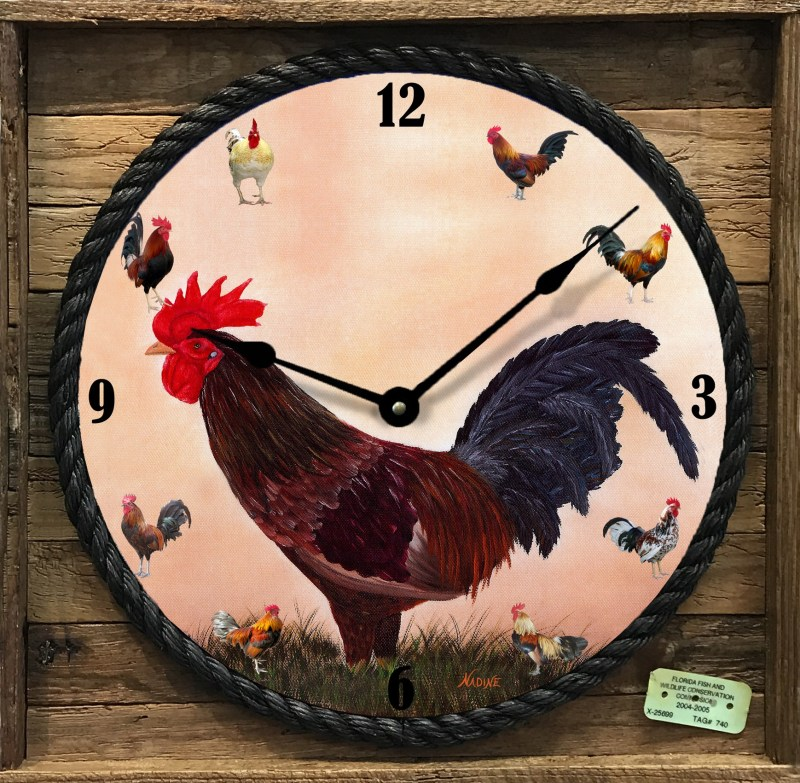 Rooster Framed Clock