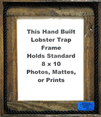 Picture Frames Made from Lobster Trap Wood