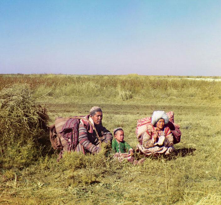 Nomadic Kazakhs on the Steppe