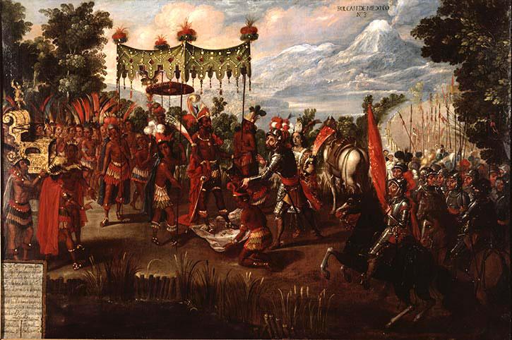 Hernando Cortes And Montezuma