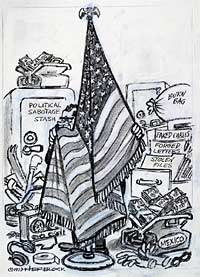 Herblocks Presidents  Herblocks History Political Cartoons from the Crash to the Millennium