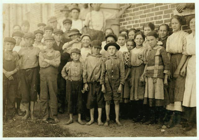 Lewis Hine: Group of Workers in Clayton, N.C. Cotton Mills