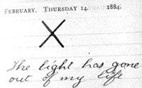 Diary entry Februrary 14, 1884