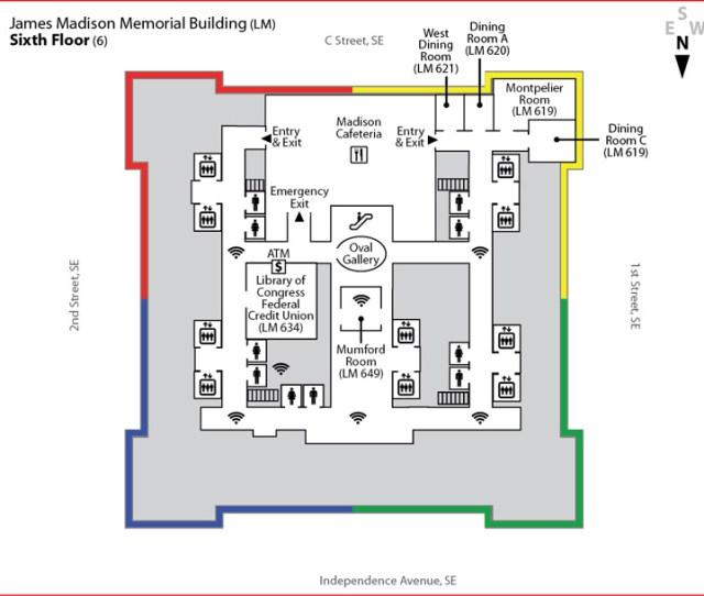 James Madison Memorial Building Sixth Floor