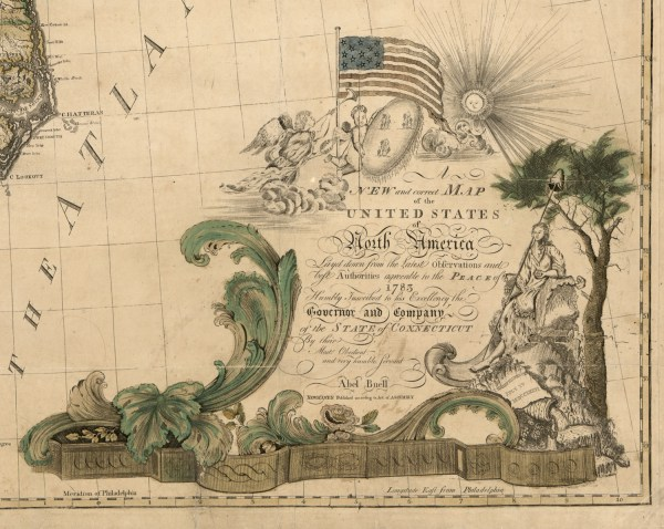 Abel Buell map of US Geography and Map Reading Room