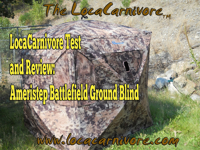 LocaCarnivore Test and Review: Ameristep Battlefield Ground Blind