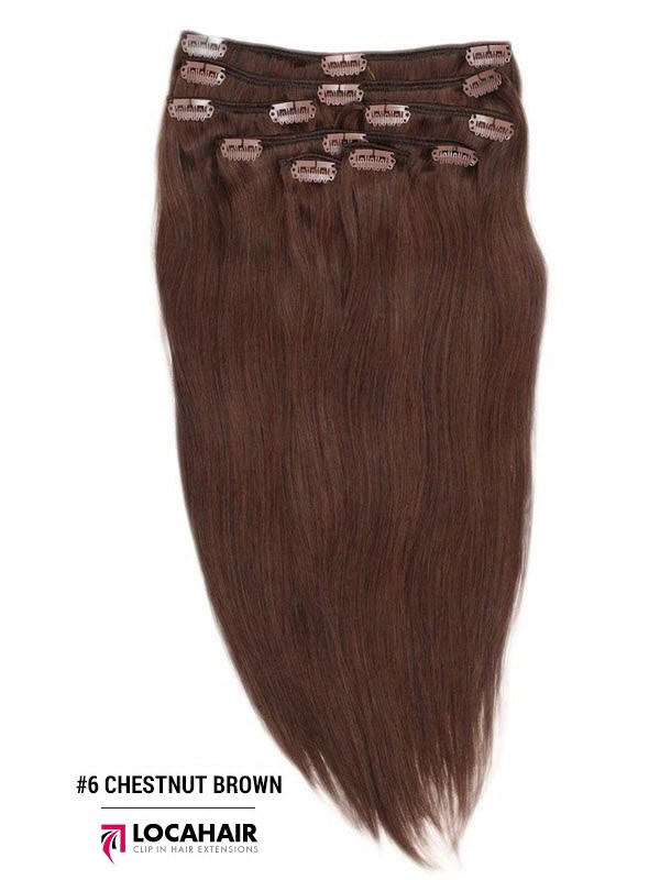 100 Human Remy Clip In Hair Extensions 18 Inch 140g