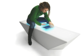 Interactive illumination and multicam laser cut tables