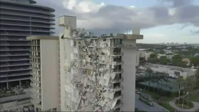 6 rescuers test positive for coronavirus outside Surfside building collapse site