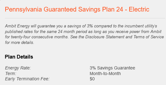 Peco electric guaranteed savings plan
