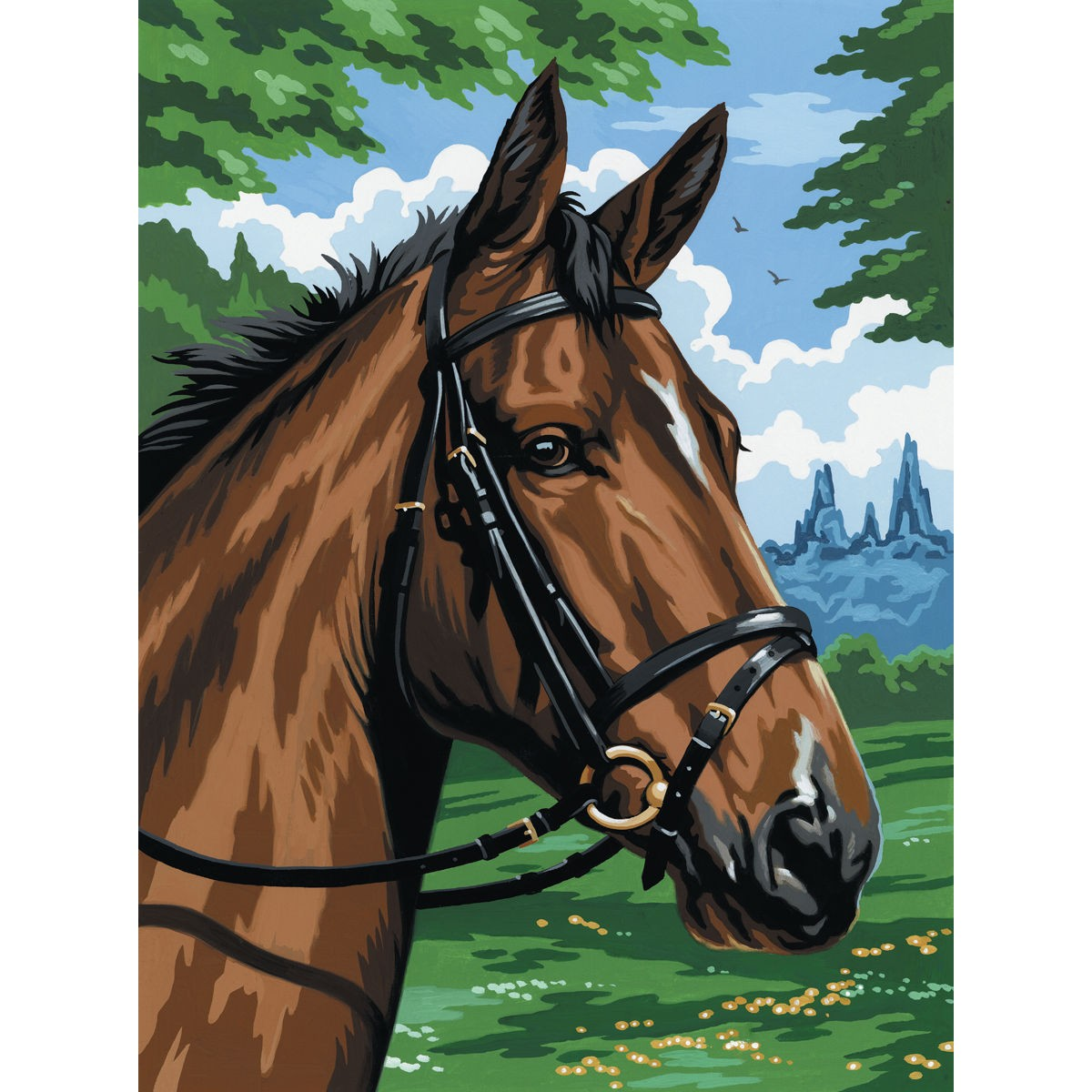Royal Amp Langnickel Thoroughbred Horse Head Painting By Numbers Artist Canvas Series