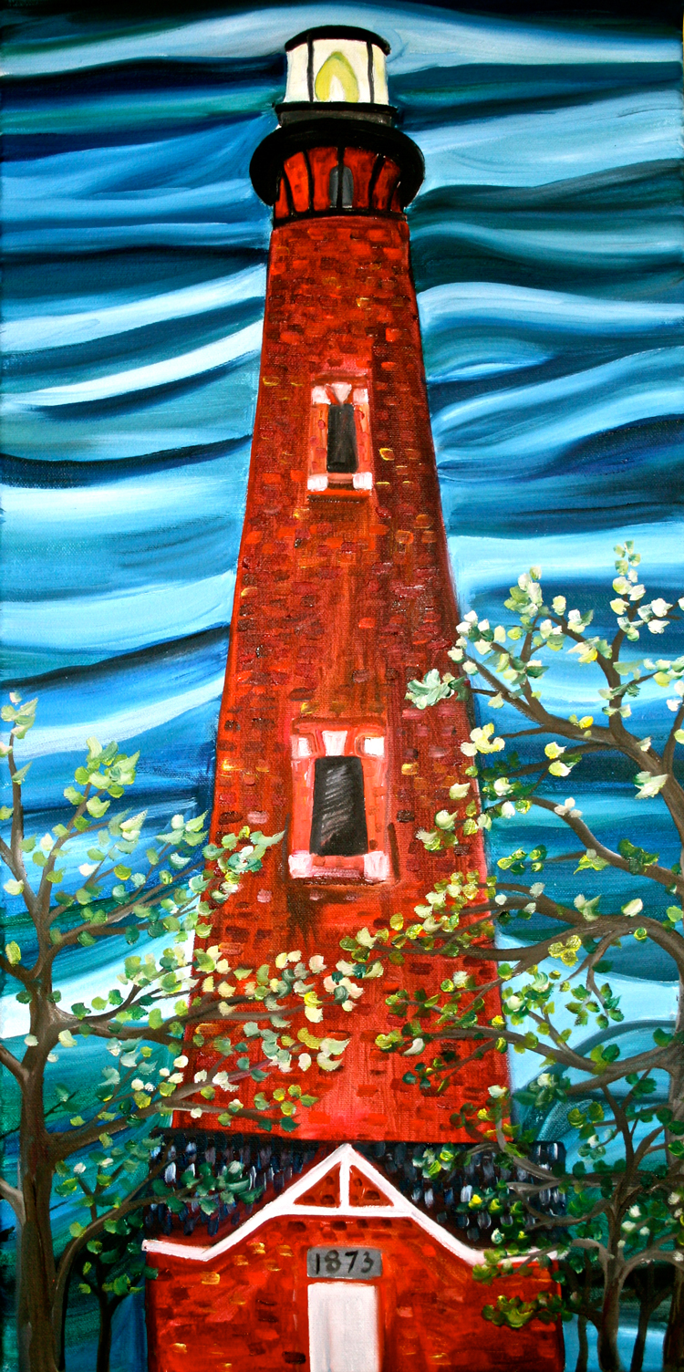 Currituck Beach Lighthouse Local Color Painting Parties