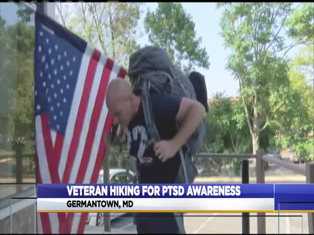 Veteran walks to raise awareness about PTSD_57822336-159532