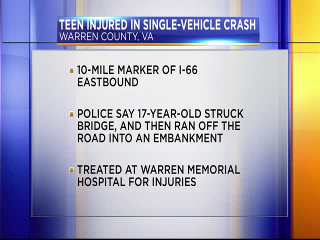 Teen injured in single-vehicle crash_89476933