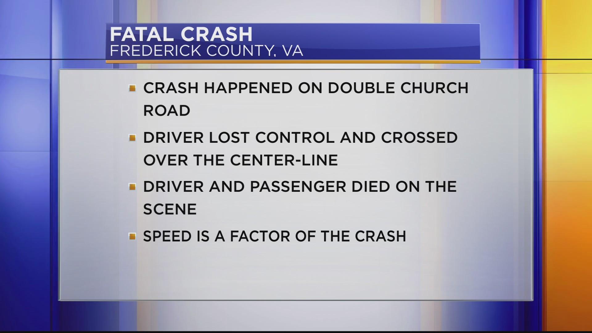 DOUBLE FATAL CRASH