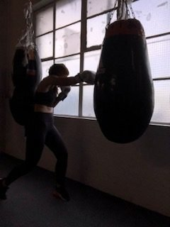 Boxing in Coatbridge during a fitness class