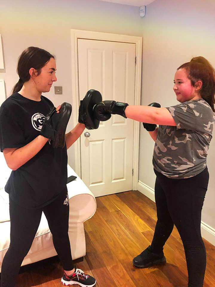 Boxfit exercise class in Hillingdon area of London