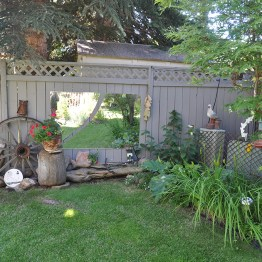 Memories of the farm have a special place in the garden.