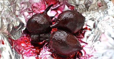 baked beets from the garden