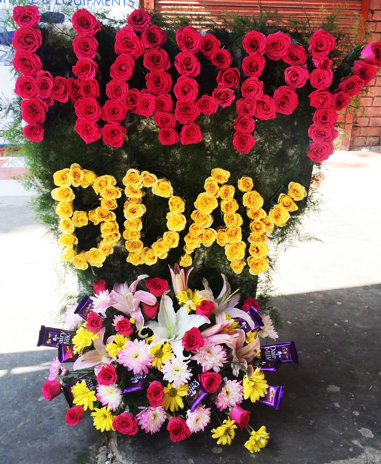 happy birthday flower and