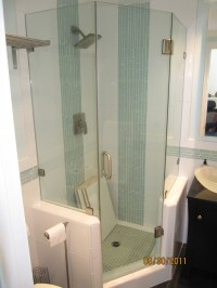Old Fashioned Two Panel Sliding Shower Bath Screen ...