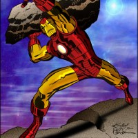 Iron Man - Color/Effect LocalHero Art: Kirby/Tim