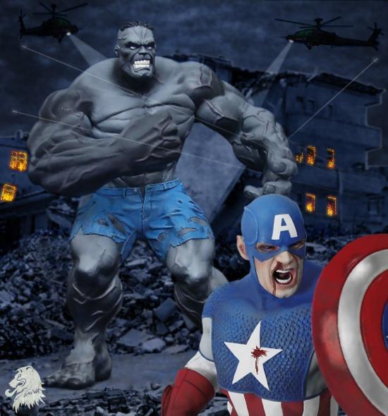 ultimate hulk vs captain