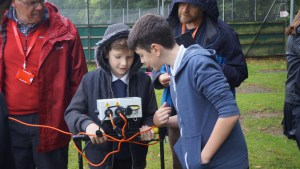 Year 8 at Ashton Park School undertaking a geophysical survey with Archeoscan