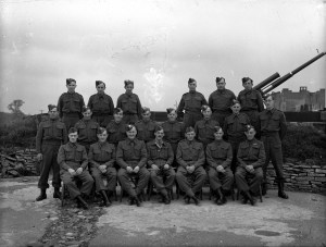 The Purdown gun crew made up of local Eastville men including Tom Allen (middle row 2nd from left)