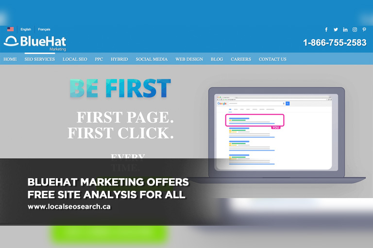 BlueHat Marketing offers free site analysis for all