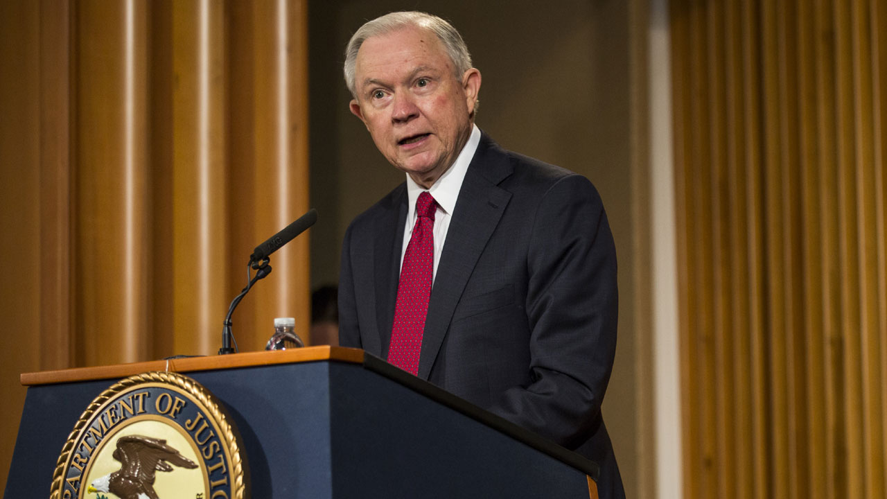 Attorney General Jeff Sessions at podium10822690-159532