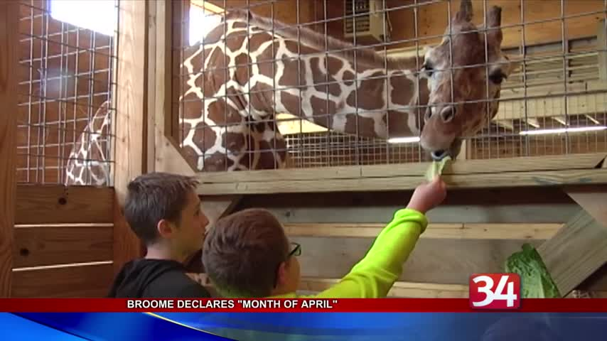 Broome County declares -Month of April- in honor of giraffe_80460604-118809258