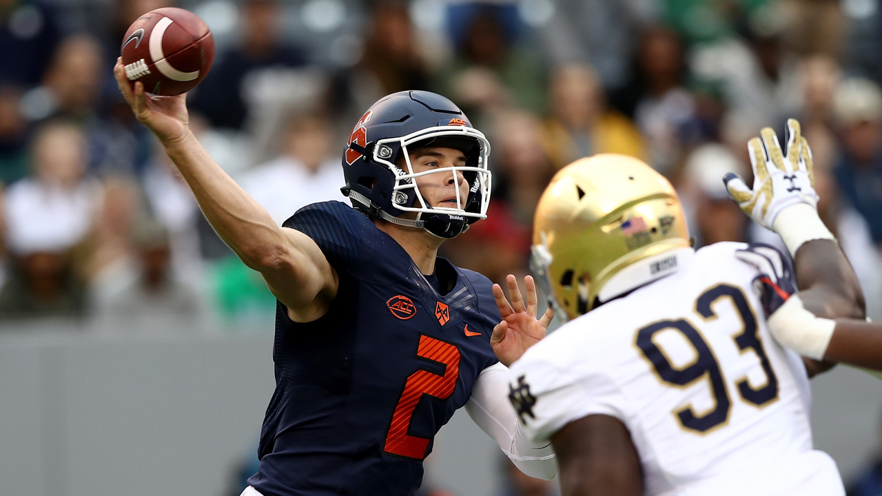 Eric Dungey passes against Notre Dame