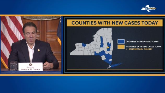 Cuomo says schools to decide if they want to close; 421 positive ...