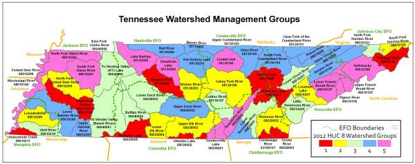 Localwaters Tennessee Watershed Map Localwaters