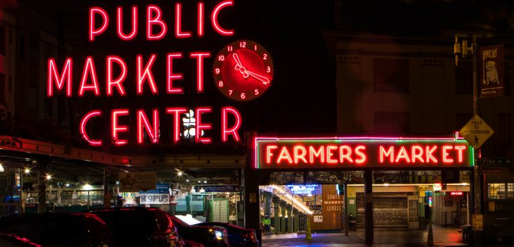 Pike Place Market at Night - localXplore