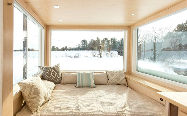 Tiny House en hiver ©escapetraveler