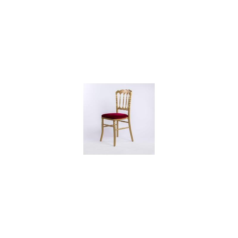 Chaise En Or Napoleon III Et Sa Galette Rouge