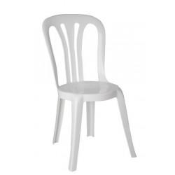 chaise en plastique blanc